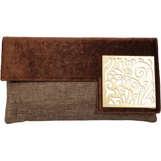 Lizzies womens Casual Brown Clutch