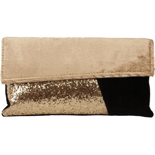 Lizzies womens Casual gold Clutch