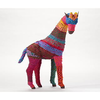 Charming And Colorful Giraffe 7W x 18L x 25H