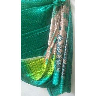 VVesbhae banaras silk Green colour with blouse