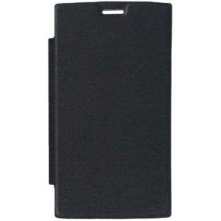 Mussa Flip Cover for Intex Aqua Power HD - Black
