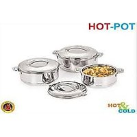 3 Pcs Nano 9 Stainless Steel Hot-Pot Casserole Gift Set (1200/ 1800/ 2500)