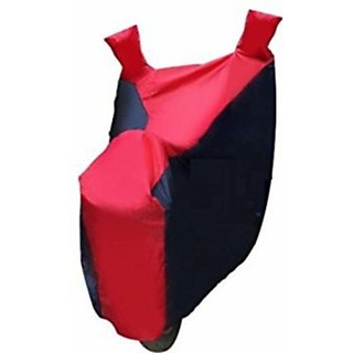 Autostark Pearl Imported Fabric Bike Body Cover Tvs Max 4R Two Wheeler Red, Blue Color