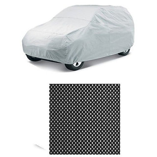 Autostark Combo Of Tata Zest Car Body Cover With Non Slip Dashboard Mat Multicolor