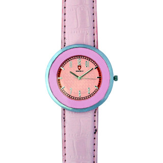 Svviss Bells Stylish Broad Pink Watch For Women And Girls