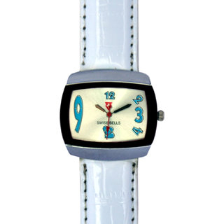 Svviss Bells Stylish Broad White Watch For Women And Girls