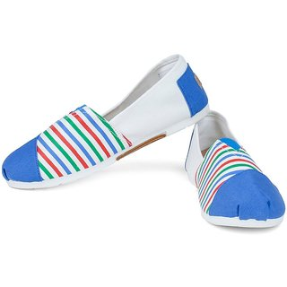 Action Blue Slip On Womens Bellies
