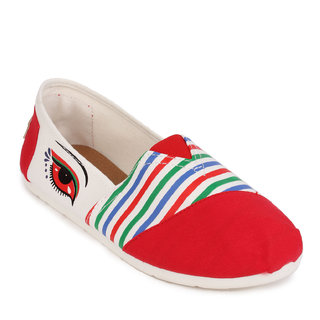 Action Red Slip On Womens Bellies