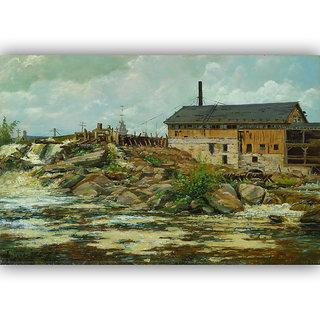 Vitalwalls Landscape Painting Canvas Art Printon Wooden Frame Scenery-301-F-60cm