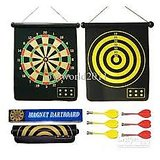 Welkin Magnetic Dart Board 15 Inch Long 12 Inch Broad With 6 Pins
