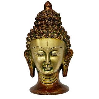 Vedic Vaani Buddha Face in Brass