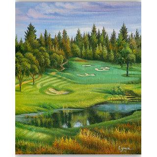 Vitalwalls Landscape Premium Canvas Art Print on Wooden Frame Scenary-109-F-60cm