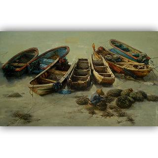 Vitalwalls Landscape Premium Canvas Art Print on Wooden Frame Scenary-123-F-45cm
