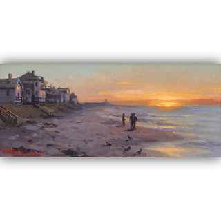 Vitalwalls Landscape Painting Canvas Art Printon Wooden Frame Scenery-366-F-45cm