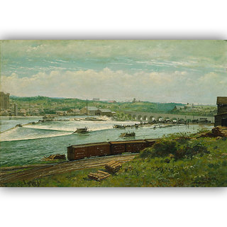 Vitalwalls Landscape Painting Canvas Art Print. Scenery-316-45cm