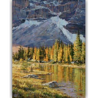 Vitalwalls Landscape Painting Canvas Art Printon Wooden Frame.Scenery-391-F-45cm