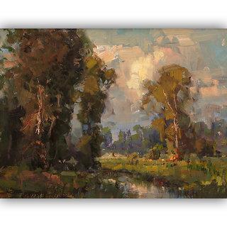 Vitalwalls Landscape Painting Canvas Art Printon Wooden Frame.Scenery-393-F-30cm