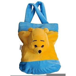 Teddy Bag Blue Yellow 32cm