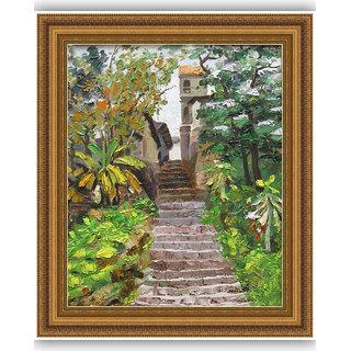 Vitalwalls Landscape Painting Canvas Art Printon Wooden Frame.Scenery-505-F-45cm