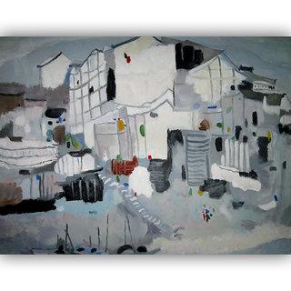 Vitalwalls Landscape Painting Canvas Art Print.Scenery-507-30cm