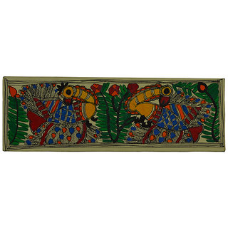 Craftuno Traditional Madhubani Painting Depicting Dancing Peacocks