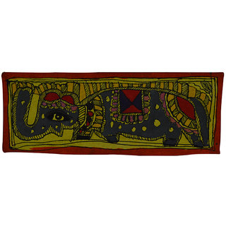 Craftuno Traditional Madhubani Painting Depicting A Majestic Elephant