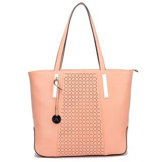 Diana Korr Pink PU Casual Plain Handbag