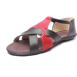 High Step Flat Black Fashion Women Sandal