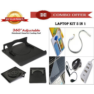 Special Offer 360 Rotate Cooling Laptop Stand + Laptop Kit 5 In 1 - CM360KIT