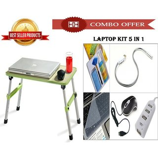 Special Combo Offer High Quality Study Table + Laptop Kit 5 In 1 - CMHQKIT