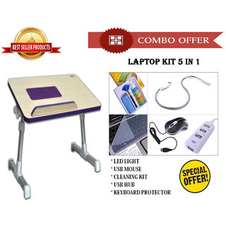 Special Combo Offer High Quality Laptop Table + Laptop Kit 5 In 1 - CMHQ2KIT