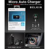 100% ORIGINAL BELKIN USB CAR CHARGER FOR MOBILES MP3 MP4 PLAYERS IPhone IPod PDA