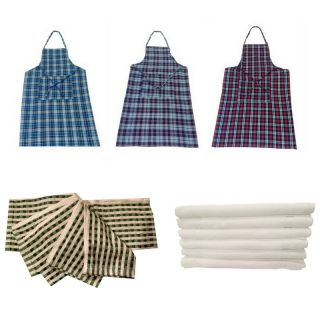 Valtellina kitchen combo of 3 aprons, 6 face towels and 6 napkins.(CoFAN-02)