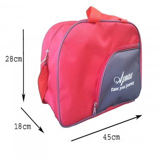 Apnav Red-Gray Gym Bag