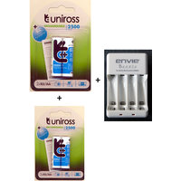 Uniross 2500x 4 MAh AA Rechargeable Battery With Envie AA Or AAA Battery Charger
