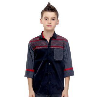 MashUp Designer Red Printed Shirt For Boys.