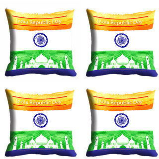 meSleep India Republic Day Cushion Cover (16x16)