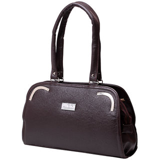 Elysin Hand-held Bag (Brown)