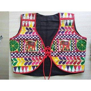 Vintage FashionzBlack Designer Embroidered Heavy Ethnic Kutch Worked Jackets