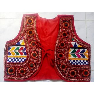 Vintage FashionzRed Designer Embroidered Ethnic Kutch Worked  Jackets
