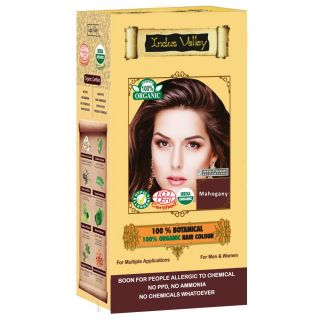 Indus Valley 100 Botanical Organic Healthier Hair Colour MAHOGANY