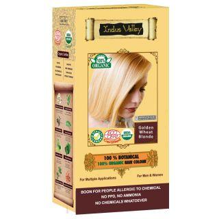 Indus Valley 100 Botanical Organic Healthier Hair Colour GOLDEN WHEAT BLONDE