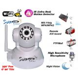 Suneyes White Wireless + LAN Wi-Fi PT IP CCTV Camera Webcam Supports Dynamic IP AV CMOS