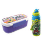 SKI Hide And Seek Slim Lunch Box Wth Water Bottle - Purple