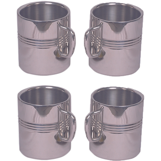 Set of 4 Big sober Mug with ring