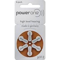 6 Pieces Powerone P 312 - Hearing Aid Battery 180 MAh 1.45v