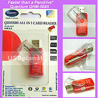 NEW All In One Quantum QHM-5085 Multi Memory Card Reader USB 2.0 - 2202316