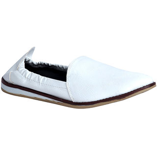 Panahi Fashionable Synthetic Leather White Shoes