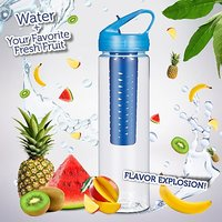Newest 700ML Suction Nozzle Fruit Infuser Water Bottle Sports Health Juice Maker