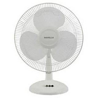 Havells Swing Lx 3 Blade 400 Mm Table Fan White available at ShopClues for Rs.1599